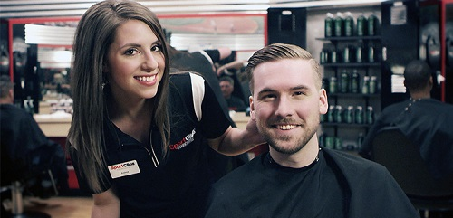 Sport Clips Haircuts of Greenwood Plaza​ stylist hair cut